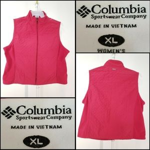 Columbia Women Quilted Full Zip Vest Size XL Extra